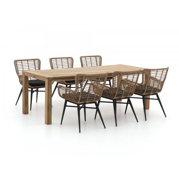 Intenso Asti/ROUGH-S 220cm dining tuinset 7-delig
