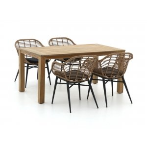 Intenso Azora/ROUGH-S 160cm dining tuinset 5-delig