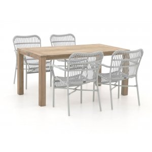 Intenso Parma/ROUGH-S 160cm dining tuinset 5-delig