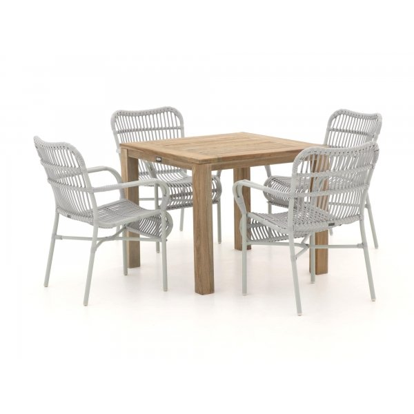 Intenso Parma/ROUGH-S 90cm dining tuinset 5-delig