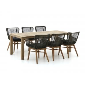 Intenso Variano/ROUGH-S 220cm dining tuinset 7-delig