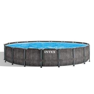 Intex Prism Frame Greywood Premium Pool - Ø 549 x 122 cm (set)