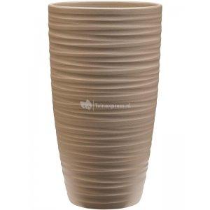 Pot Groove Partner Chic Stone Greybeige 16x29 cm beige ronde bloempot voor binnen