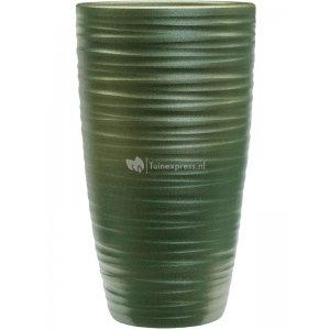 Pot Groove Partner Chic Stone Pearl Green 16x29 cm groene ronde bloempot voor binnen