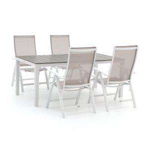 Bellagio Elegance/Fidenza 180cm dining tuinset 5-delig verstelbaar