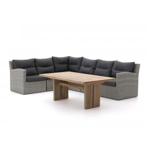Intenso Fellini/ROUGH-L dining loungeset 7-delig links