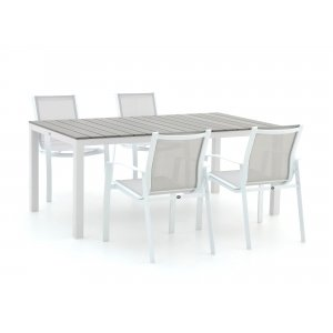 R&S Design Altea/Fidenza 180cm dining tuinset 5-delig stapelbaar
