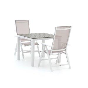 Bellagio Avenza/Fidenza 90cm dining tuinset 3-delig verstelbaar