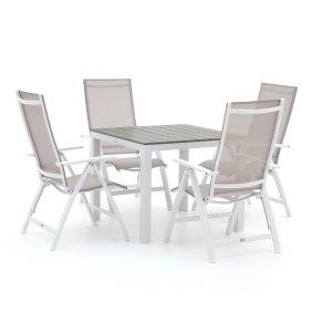 Bellagio Avenza/Fidenza 90cm dining tuinset 5-delig verstelbaar
