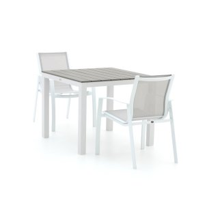 R&S Design Altea/Fidenza 90cm dining tuinset 3-delig stapelbaar