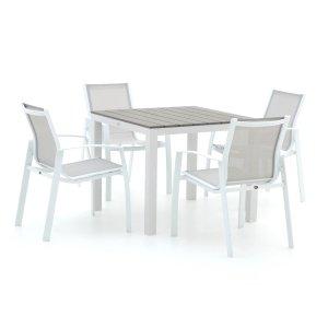 R&S Design Altea/Fidenza 90cm dining tuinset 5-delig stapelbaar